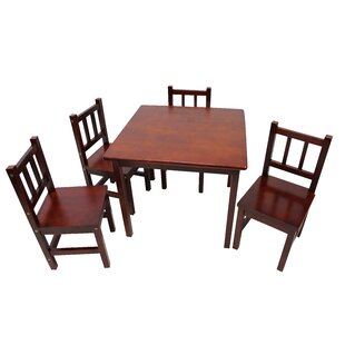 Low priced Kayli Kids 5 Piece Table and Chair Set ByViv + Rae