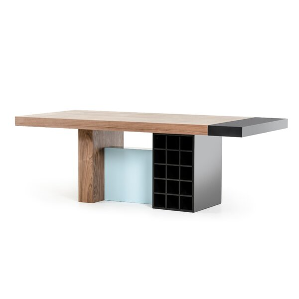 Camron Modern Wood Top Dining Table By Orren Ellis