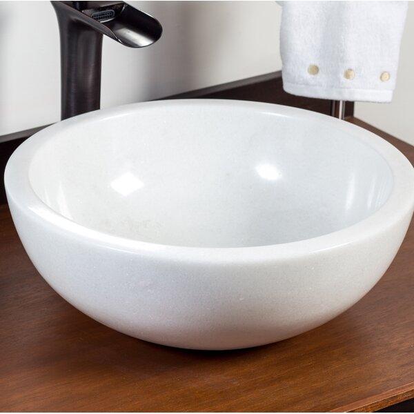 Safi Stone Circular Vessel Bathroom Sink by Laguna Marble