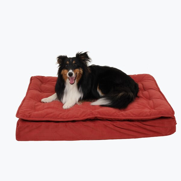 Luxury Pillow Top Mattress Pet Bed In Earth Red Lna1324