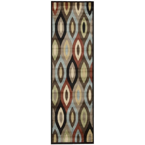 Mondrian Brown/Black Area Rug by Nourison