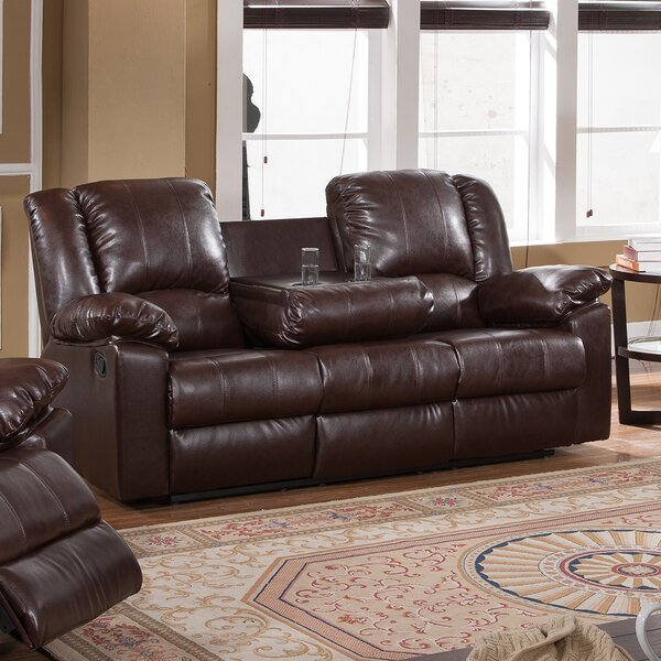 Winston Porter Kimber Reclining Sofa With Drop Down Cup Holder