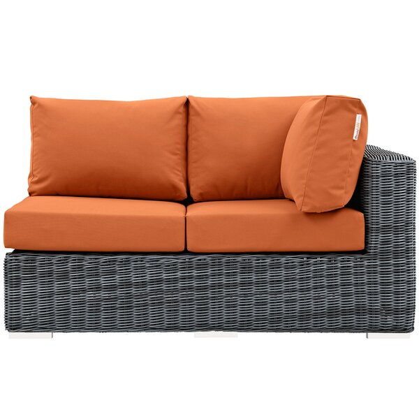 Keiran Left Arm Loveseat Sectional Piece with Cushions by Brayden Studio