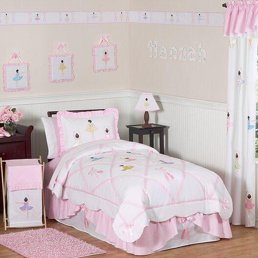 Ballerina 3 Piece Full/Queen Comforter Set by Sweet Jojo Designs