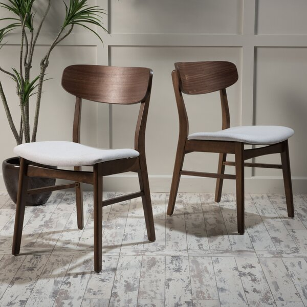 Barros Solid Wood Dining Chair (Set Of 2) By George Oliver
