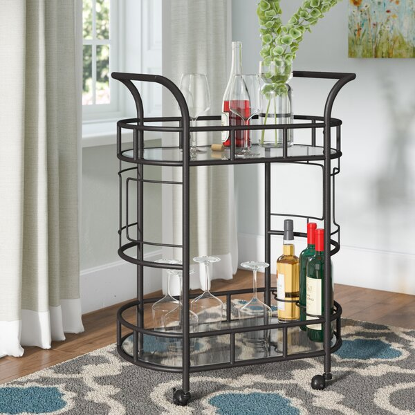 Boswell 2-Tier Bar Cart by Red Barrel Studio Red Barrel Studio