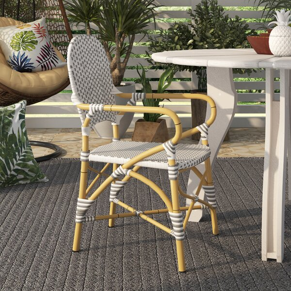 Nikolaos Stacking Patio Dining Chair (Set Of 2) By Bay Isle Home
