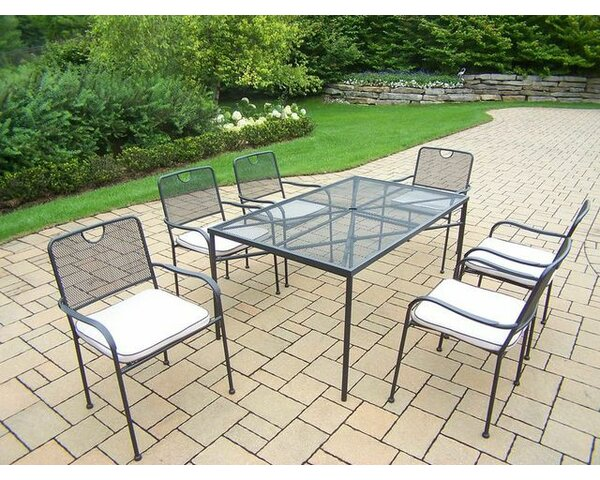 Charleston 7 Piece Dining Set with Cushions by Oakland Living