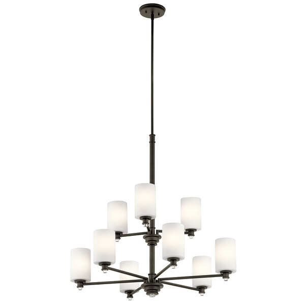 Bourdeau 9 - Light Shaded Classic / Traditional Chandelier By Darby Home Co