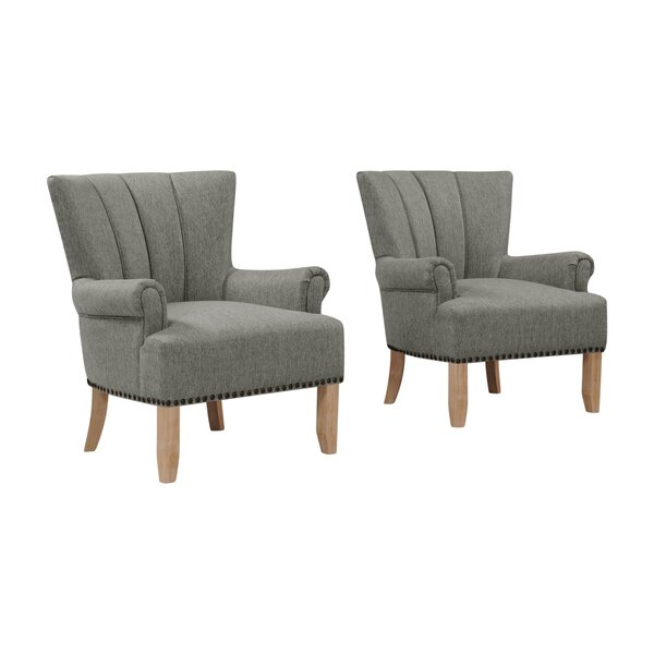 Rushden Rolled Armchair (Set of 2) by Gracie Oaks