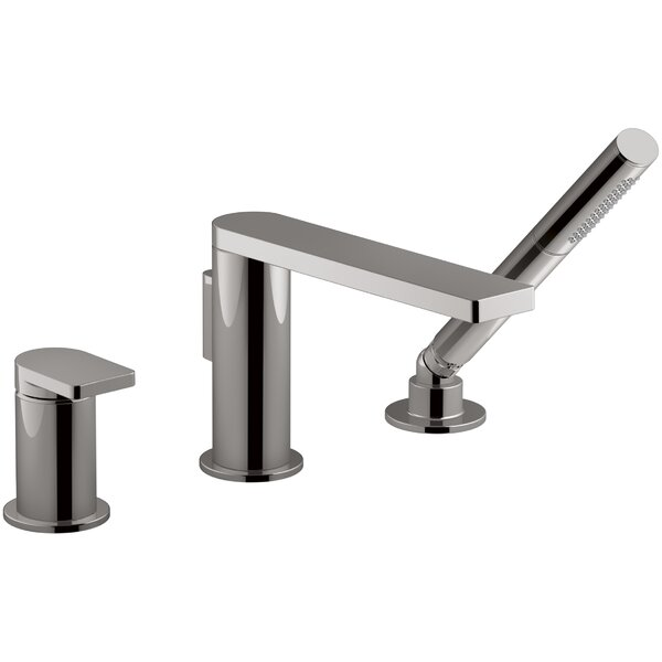 Composed® Single Handle Deck Mount Bath Faucet with Handshower by Kohler