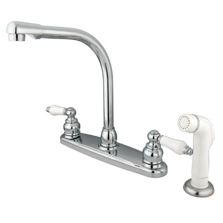 Victorian Double Handle Kitchen Faucet with Side Spray by Kingston Brass