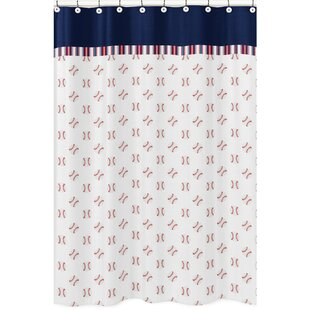 Shop For Baseball Patch Cotton Shower Curtain By Sweet Jojo Designs