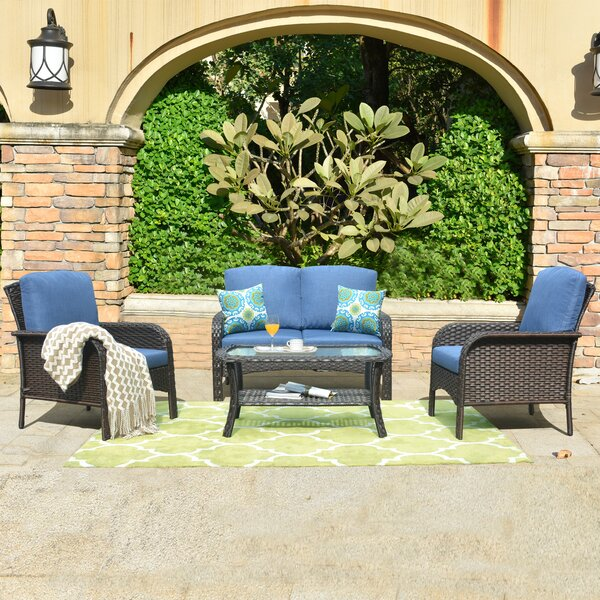 Nicasio 4 Piece Deep Seating Group With Cushions By Red Barrel Studio®
