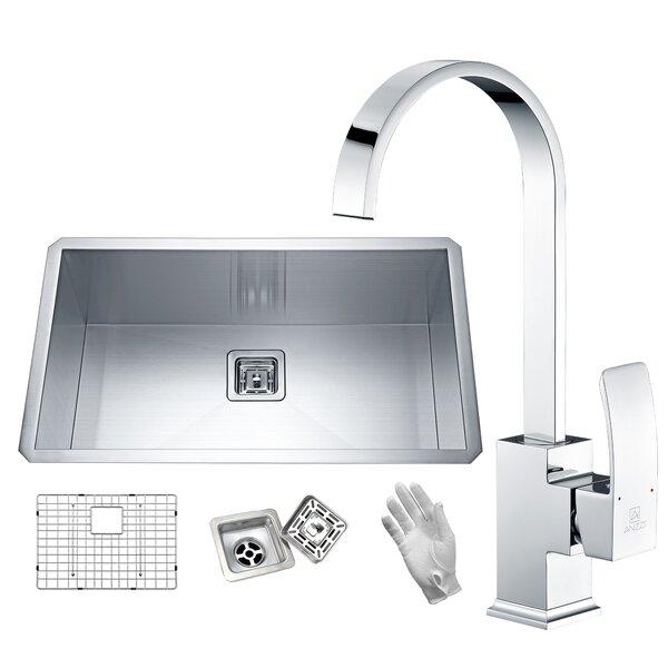 Vanguard 32 L x 19 W Undermount Kitchen Sink With Faucet
