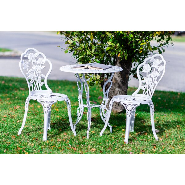 Crooke 3 Piece Bistro Set by August Grove