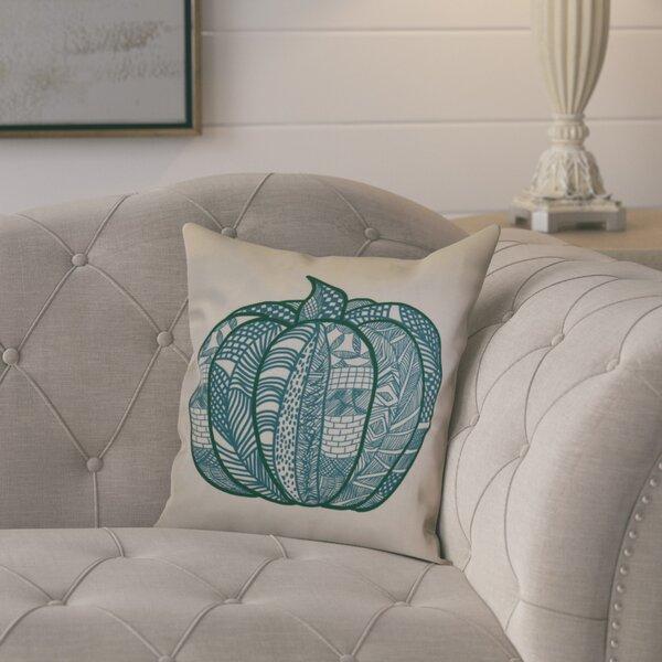 Macedonia Pumpkin Patch Geometric Outdoor Throw Pillow by August Grove