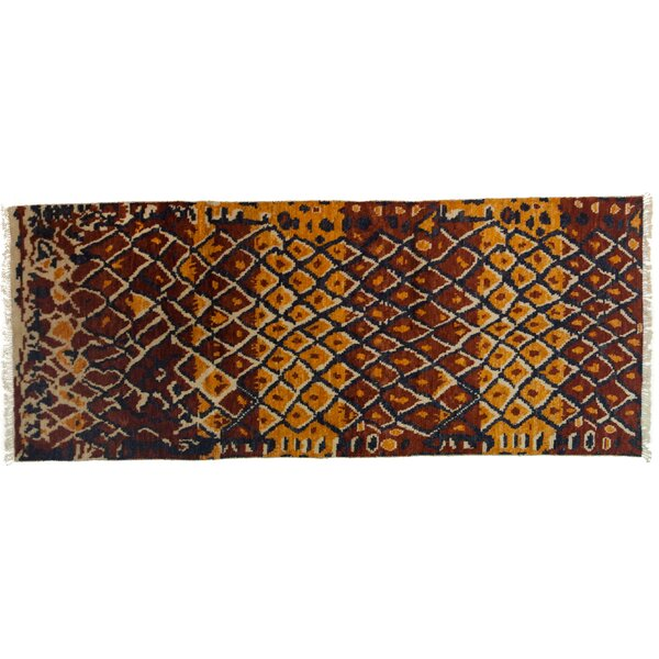 One-of-a-Kind Shag Hand-Knotted Red Area Rug by Darya Rugs