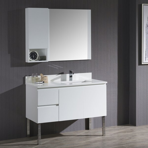 Maly 67 Single Bathroom Vanity Set with Mirror by Orren Ellis