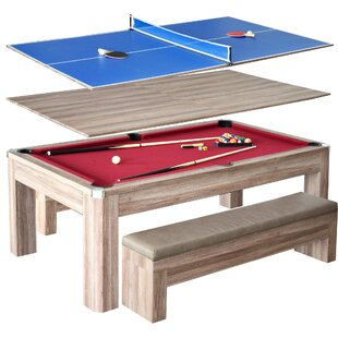 Reviews Newport 2 Piece 7' Pool Table Set by Hathaway Games