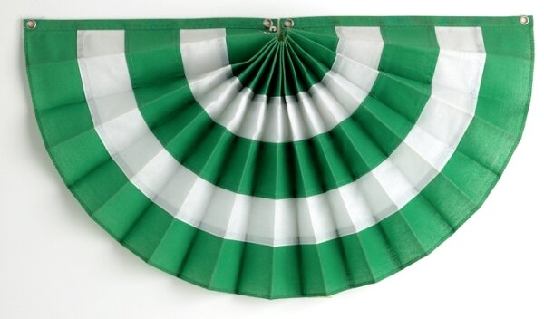 5 Stripe Pleated Flag by Independence Bunting and Flag Corp