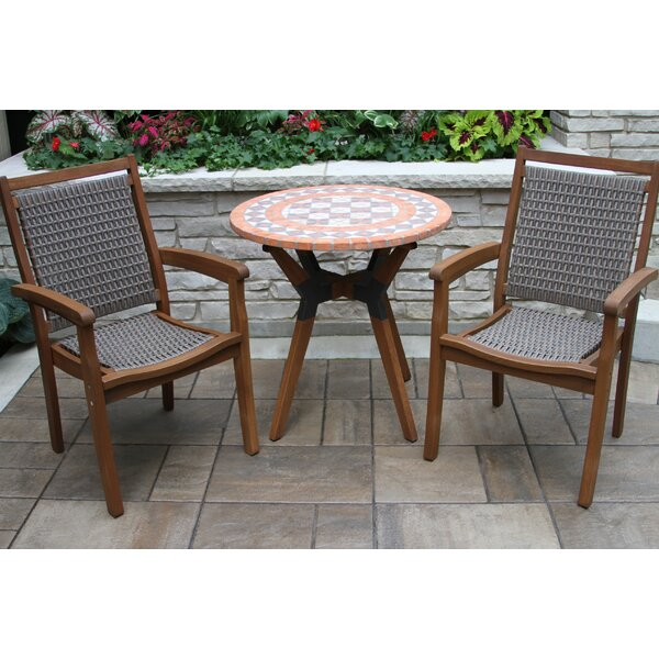 Rhett Terra Cotta 2 Piece Bistro Set by Langley Street