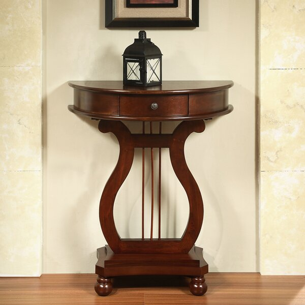 Dufresne Half Moon Harp Console Table By Charlton Home
