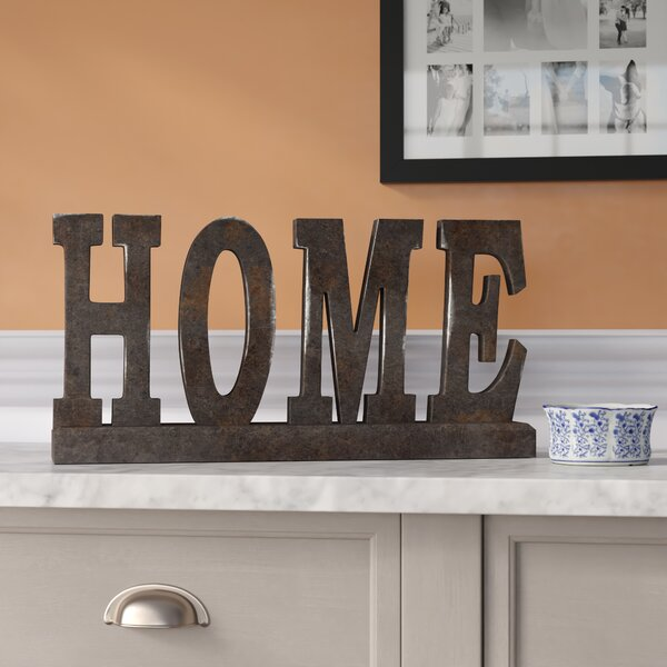 Wood Table Top Home Letter Block by Three Posts