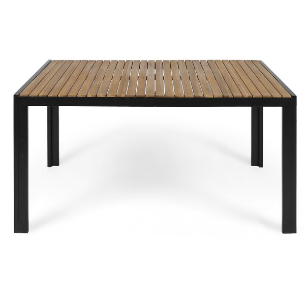 Starr Metal/Wood Dining Table by Loon Peak