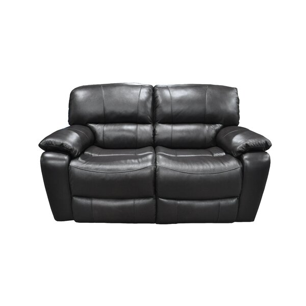 Malley Leather Reclining Loveseat by Winston Porter