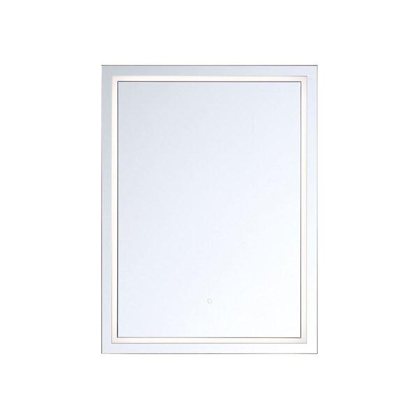 Dyersville Transitional Modern Lighted Bathroom Mirror