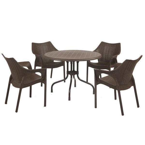 Sletten 5 Piece Dining Set by Brayden Studio