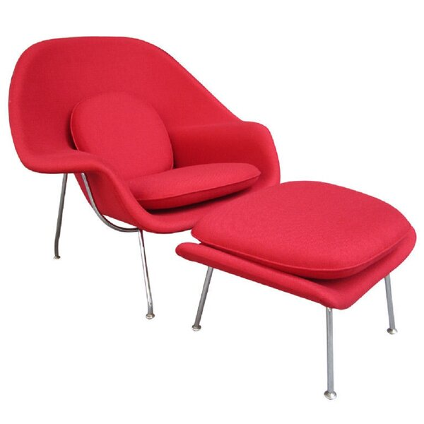 Toner Lounge Chair and Ottoman by Orren Ellis