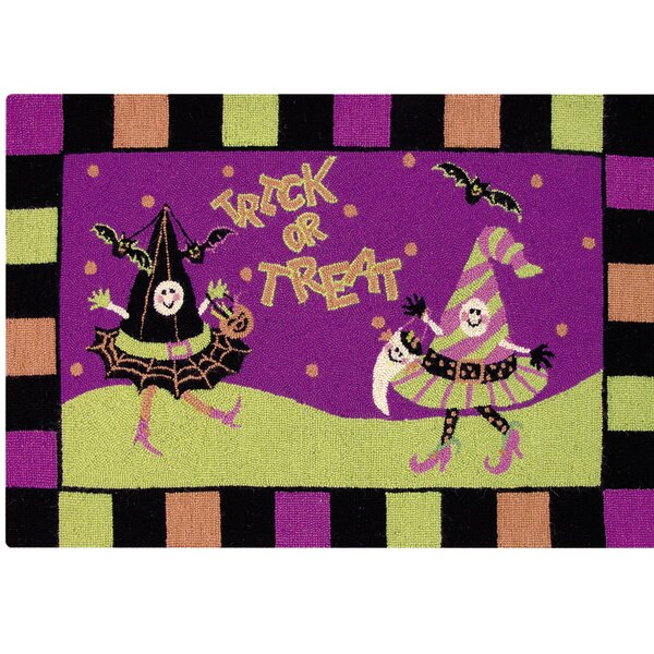 Bootique Halloween Wool Purple Area Rug by The Holiday Aisle