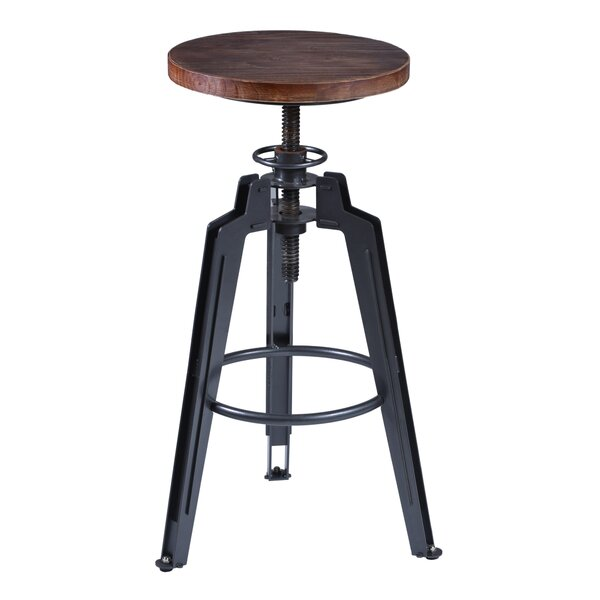 Cosmia Adjustable Height Swivel Bar Stool by 17 Stories