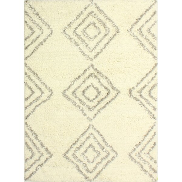 Lavedan Wool Hand-Knotted Ivory Area Rug by Laurel Foundry Modern Farmhouse