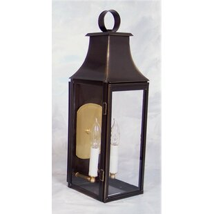 Best Reviews Brook Farm 2-Light Outdoor Wall Lantern By Darby Home Co