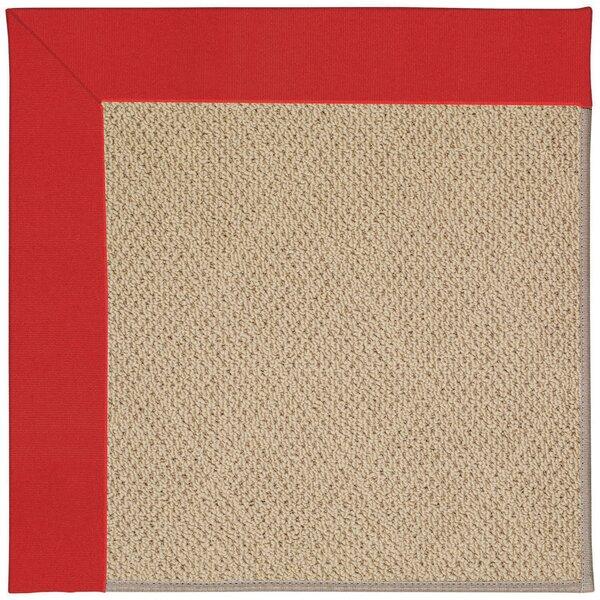 Zeppelin Tufted Red/ Beige Indoor / Outdoor Use Area Rug
