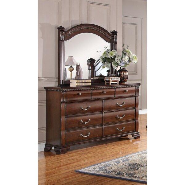 Quast Vintage 9 Drawer Dresser with Mirror by Astoria Grand