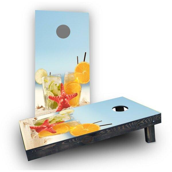Drinks on Beach Cornhole Boards (Set of 2) by Custom Cornhole Boards