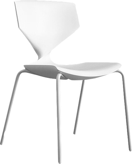 Quo Armless Stacking Chair by Sandler Seating
