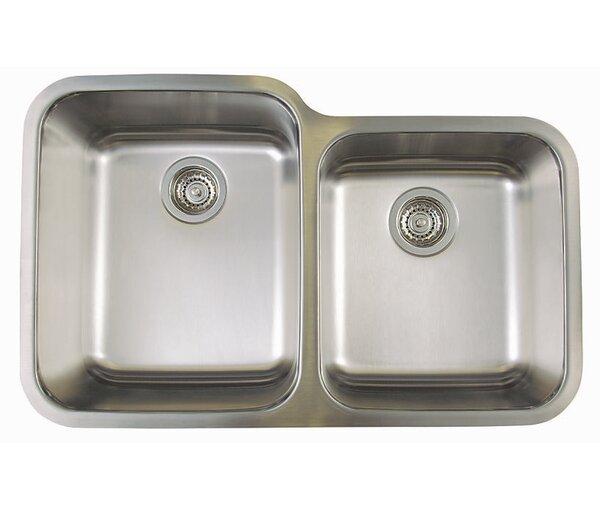 Stellar 32.33 L x 20.5 W Double Bowl Undermount Kitchen Sink by Blanco