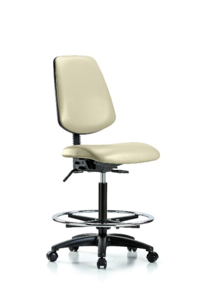 Jalynn High Bench Foot Ring Ergonomic Office Chair by Symple Stuff