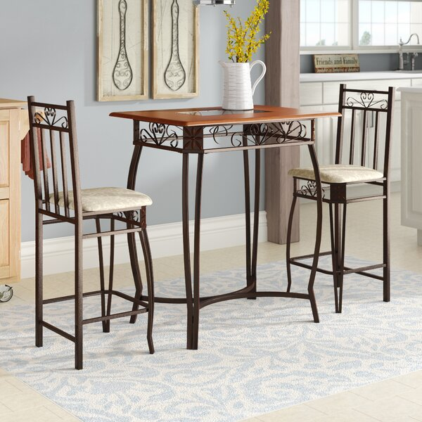 Barcelona 3 Piece Counter Height Pub Table Set by August Grove