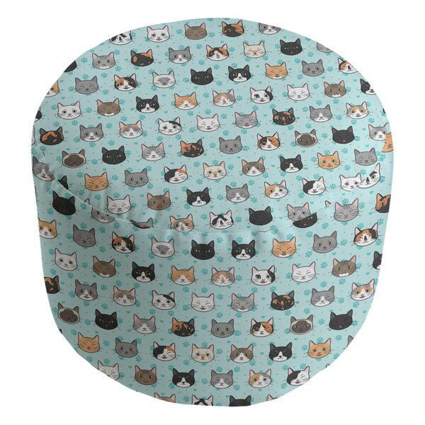 Kitterman Kitty Cat Cube Ottoman by Ebern Designs