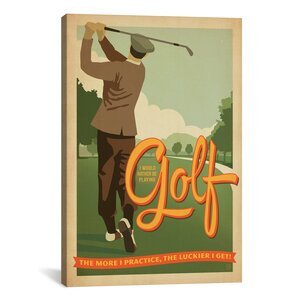 Golf Bad Day by Anderson Design Group Graphic Art on Wrapped Canvas by iCanvas