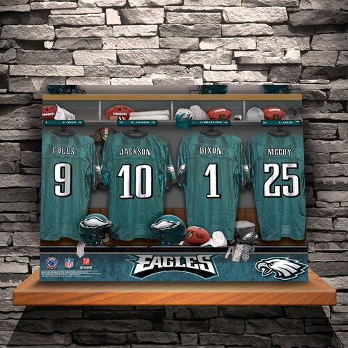 Personalized Locker Room Photographic Print on Wrapped Canvas by JDS Personalized Gifts