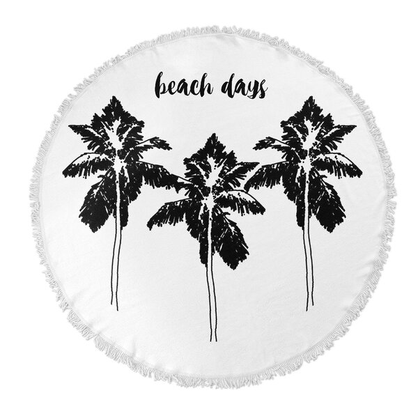 Beach Days Round Beach Towel by KAVKA DESIGNS