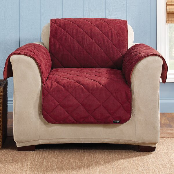 Soft Suede Armchair Slipcover by Sure Fit
