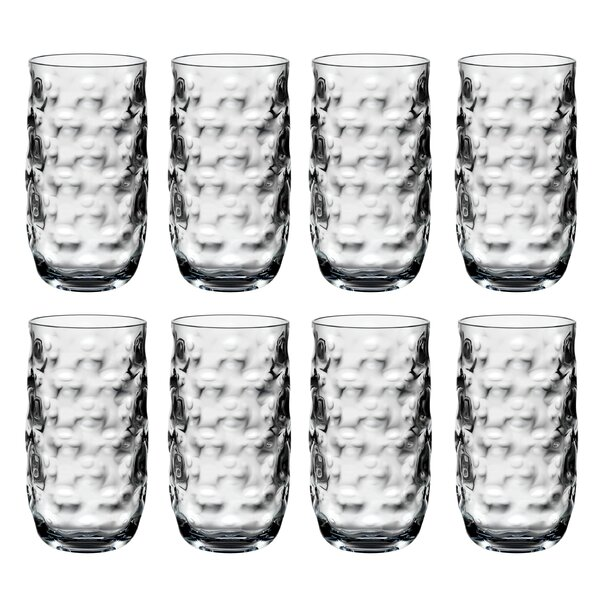 Tacoma 23 oz. Acrylic Drinking Glass (Set of 8) by Bay Isle Home